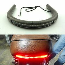 Cafe Racer Brat Seat Frame Hoop Loop with LED Brake Turn Singal Light Indicators
