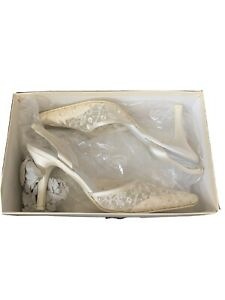NEW WOMEN'S MELBO BRIDAL SHOES-SCATTER ON DONATELLE (SILVER)