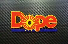 DOPE FUNNY BIKER WEED HIPPIE WORD BADGE CAP Embroidered Patch Iron On Sew Logo