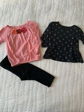 EUC Lot Of Baby Girls Clothes Outfits Size 12 Months Tops Bottoms