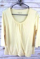 Coldwater Creek Yellow Medium 3/4 Sleeve Women's Shirt