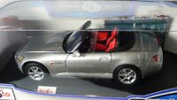 1:18 Honda S2000 VTEC Roadster Silver Japanese Version Diecast Toy Model Car