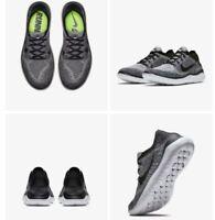 NIB Men's Nike Free RN Flyknit 2018 Running Shoes  942838-101 White Black