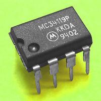 (5) MC34119P Audio Power Amp IC, VERY LOW Vcc, Typ. 250 mW  - Genuine MOTOROLA