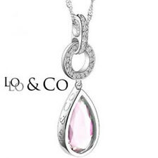 "LoLo & Co Designer Necklace - Touch Collection Platinum over Sterling 18"" Chain"