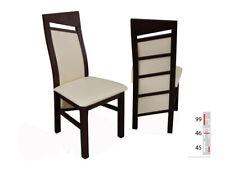 Bois Massif Chaise de Salle à Manger Design Cuir à K61