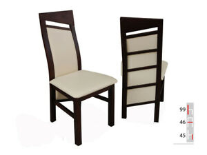 Solid Wood Chair Dining Designer Leather Room K61