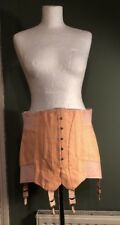 Vintage 50's 60's Style Pink French Elasticated Corset Girdle New S M 10 12