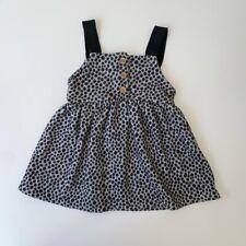 Zara Baby Girls 2-3 Years Grey Spotted Pinafore Dress