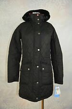 Barbour 'Kirby' Hooded Quilted Coat Jacket Black 4 (USA)   NWD