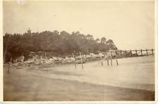 France, Île de Noirmoutier, vue sur le bord de mer  Vintage albumen print, T