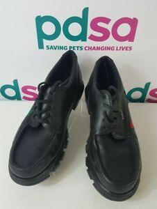 Kickers Genuine Moccasins Black Lace Up Shoes UK 10.5/EU 45  - T659