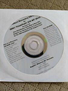 IBM ThinkPad 570 MT 2644 recovery CD Windows 98