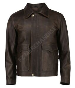 Indiana Jones Harrison Classic Genuine Real Distressed Leather Jacket