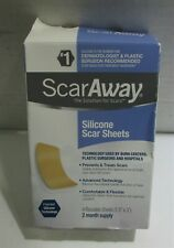Scar Away Silicone Scar Sheets New 2 Month Supply 4 Reusable Sheets Exp 08/24