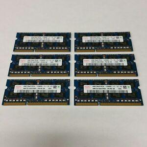 KIT of 6 - HYNIX Laptop Memory 4GB PC3-12800S 1600MHz DDR3 HMT351S6EFR8A-PB