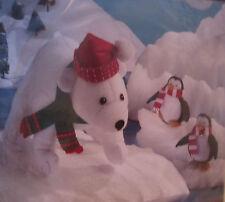 Bucilla Felt Applique Polar Bear And Penguins Home Decor Kit 85336 ~ Sealed