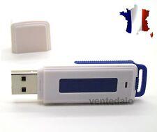 Micro Espion Clé USB Enregistreur Dictaphone 4GB 4GO Modèle Blanc Bleu