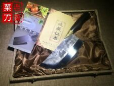 Handmade chinese Hadfield steel slicing kitchen chopper chef knife with gift box