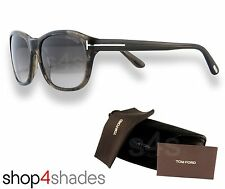 Gafas de sol Tom Ford London Caballeros Marrón/Negro De Mármol _ Graduado Marrón FT0396 50K