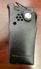 Vertex Standard LCC-920S Black Leather Radio Holster Case W/D Swivel Belt Loop