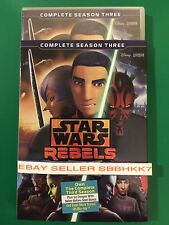 Star Wars Rebels: The Complete Season 3 DVD AUTHENTIC W/Disney Rewards NO TAX