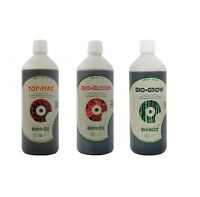 Pack BIOBIZZ engrais bio bloom  bio grow top max 3x 500ml seringue 10ml offerte