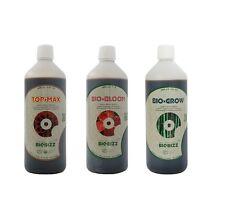 Pack BIOBIZZ engrais bio bloom  bio grow top max 3x 500ml seringue 10ml offerte