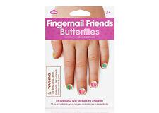 NPW Kinder Fingernagel Freunde Schmetterlinge 25 mehrfarbig Nagel Sticker