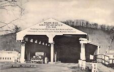 Philippi, W. VA, First Land Battle of Civil War, Old Postcard