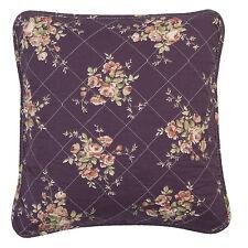 Kissenhülle violett lila Rosen Landhaus Patchwork Gesteppt Quiltkissen Q105.020