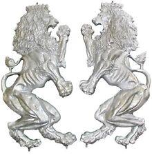 CAST ALUMINUM BRITANNICA LIONS - ONE PAIR - WITH WELD TABS
