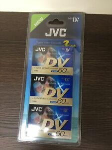 3 x JVC MINI DV DIGITAL VIDEO CAMCORDER TAPE CASSETTE HIGH QUALITY 60 MINS NEW