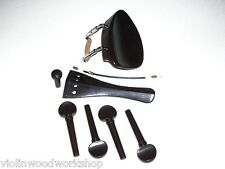 OldViolinShop 4/4 Kriesler Chin Rest And set of Ebony parts Hill TP 101533