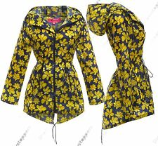 NEW RAIN MAC Ladies PARKA Shower Womens RAINCOAT Festival Size 8 12 14 16 18 22