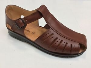 Men's Shoes Sandals 'VALCONCA' Art. 024 Real Leather Made IN Italy