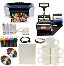 New Mug Cup Heat Press Machine,Epson Printer CISS Sublimation Ink Paper,Mug Pack