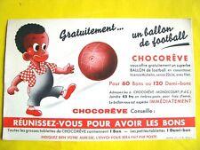 Ancien Buvard Chocolat Chocorêve concours Ballon Football