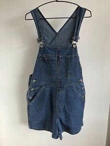 URBAN RENEWAL OLD NAVY Blue Denim Short Dungarees  - Medium