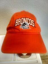 BOISE STATE UNIVERSITY BRONCOS HAT CAP ORANGE STRAPBACK NCAA SIGNATURES COMPANY