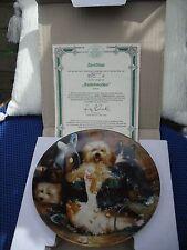 "Bradford exchange ""Badefreuden"" Wall Plate and certificate."