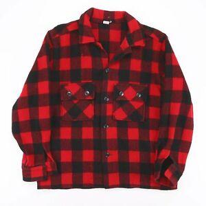 MINNESOTA WOOLEN  Red American Long Sleeve Flannel Shirt Mens M