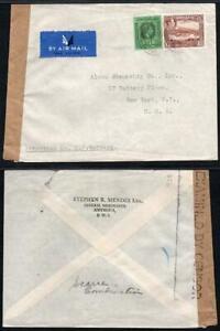 ANTIGUA/LEEWARD Censor Cover to U.S.A