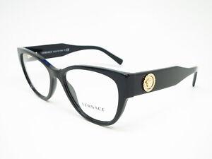 New Authentic Versace VE 3281-B GB1 Black Eyeglasses 51mm Rx-able 3281B