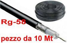 MATASSA CAVO COASSIALE RG 58 CK mil ital ROTOLO  MT 10  impedenza 50 Ohm antenna