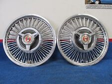 "1960's FORD MUSTANG  GALAXIE  FALCON  FAIRLANE  13"" WIRE WHEEL HUBCAPS PAIR  416"