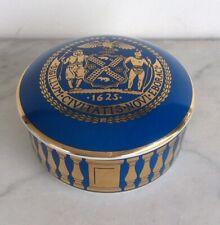 TIFFANY & CO Limited Edition NYC Mayor David N. Dinkins Blue Trinket Box Rare