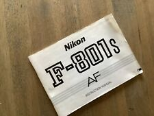 Notice En Anglais Nikon F801 S Très Bon État