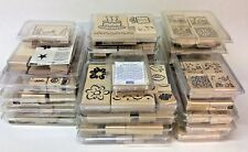 Stampin' Up! - Lot of (28) Boxed Stamp Sets - Wood Rubber Stamps - Retired
