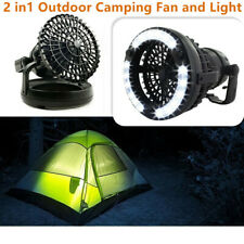 2 in1 Outdoor Camping Fan and Light 18 LED Flashlight Hanging Tent Light Lantern